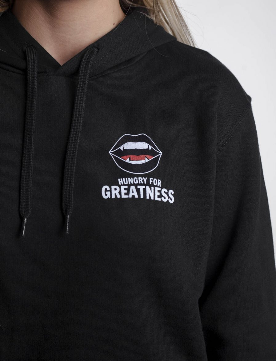 Hungry for Greatness Black Unisex Hoodie