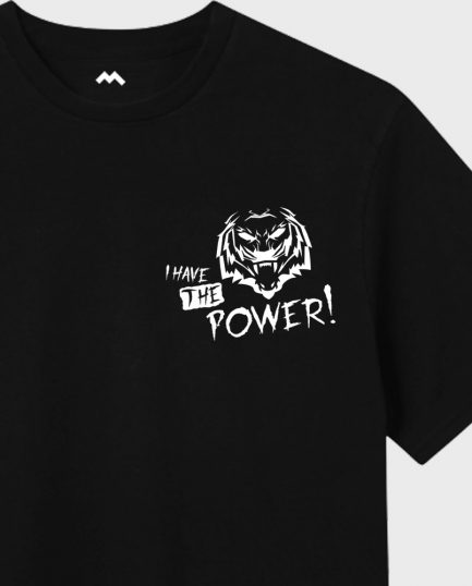 Power Tiger - Black/White T-Shirt