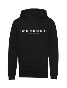 Workout State of Mind - Black Unisex Hoodie